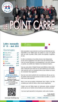 Le Point Carré n°15 Avril 2016
